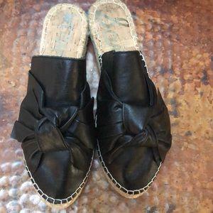 Sam Edelman Lynda black leather slides,8.5,Bow,EUC
